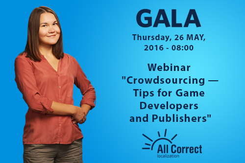Webinar based on our crowdsourcing experience on the GALA platform